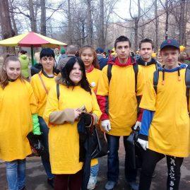 Субботник в парке «Дубрава» м-н Климовск 21 апреля 2018 года