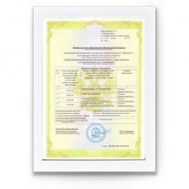 Приложение №1 к свидетельству о государственной аккредитации от 23 июня 2017 г. № 4201